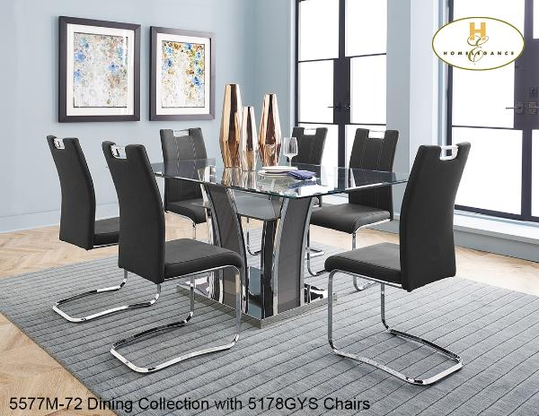 5577 DINING SET, 5577, Dining Room Sets, 5577 DINING SET from Homelegance by Midha Furniture serving Brampton, Mississauga, Etobicoke, Toronto, Scraborough, Caledon, Cambridge, Oakville, Markham, Ajax, Pickering, Oshawa, Richmondhill, Kitchener, Hamilton, Cambridge, Waterloo and GTA area