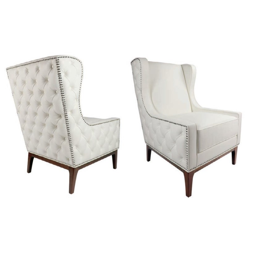 ALEXANDRIA  WHITE, GY-AC-8131, Accent Chairs by Midha Furniture to Brampton, Mississauga, Etobicoke, Toronto, Scraborough, Caledon, Oakville, Markham, Ajax, Pickering, Oshawa, Richmondhill, Kitchener, Hamilton and GTA area