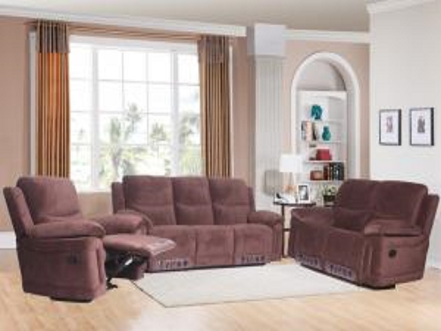 ALORE BROWN Sectionals & Recliners, K166, Recliners by Midha Furniture to Brampton, Mississauga, Etobicoke, Toronto, Scraborough, Caledon, Oakville, Markham, Ajax, Pickering, Oshawa, Richmondhill, Kitchener, Hamilton and GTA area