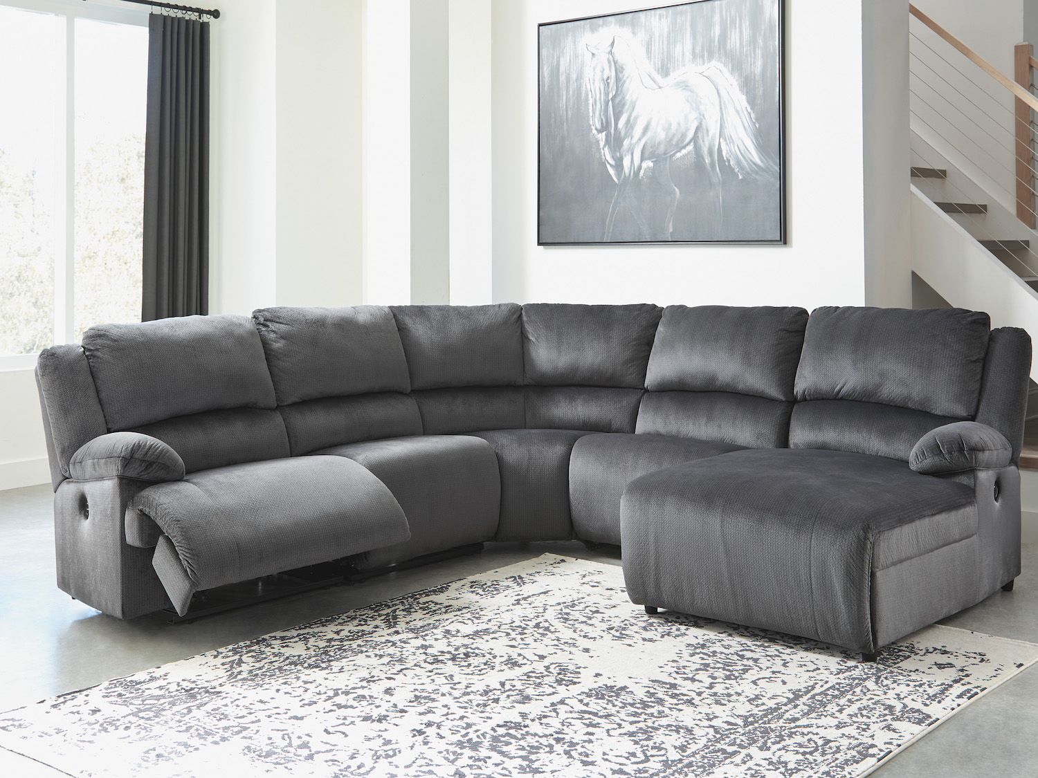 Clonmel Power Recliner Sectional, 365, Sectionals by Midha Furniture to Brampton, Mississauga, Etobicoke, Toronto, Scraborough, Caledon, Oakville, Markham, Ajax, Pickering, Oshawa, Richmondhill, Kitchener, Hamilton, Cambridge, Waterloo and GTA area