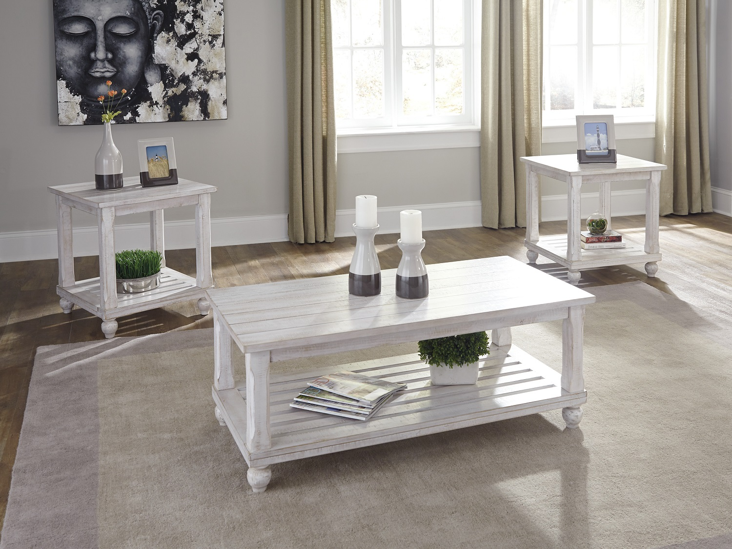 Cloudhurst 3PC Table Set, T488-13, Coffee Table by Midha Furniture to Brampton, Mississauga, Etobicoke, Toronto, Scraborough, Caledon, Oakville, Markham, Ajax, Pickering, Oshawa, Richmondhill, Kitchener, Hamilton and GTA area