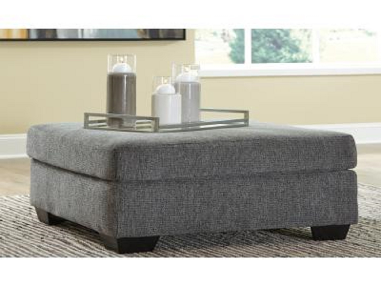 Dalhart Oversized Accent Ottoman, 85703, Ottoman by Midha Furniture to Brampton, Mississauga, Etobicoke, Toronto, Scraborough, Caledon, Oakville, Markham, Ajax, Pickering, Oshawa, Richmondhill, Kitchener, Hamilton and GTA area