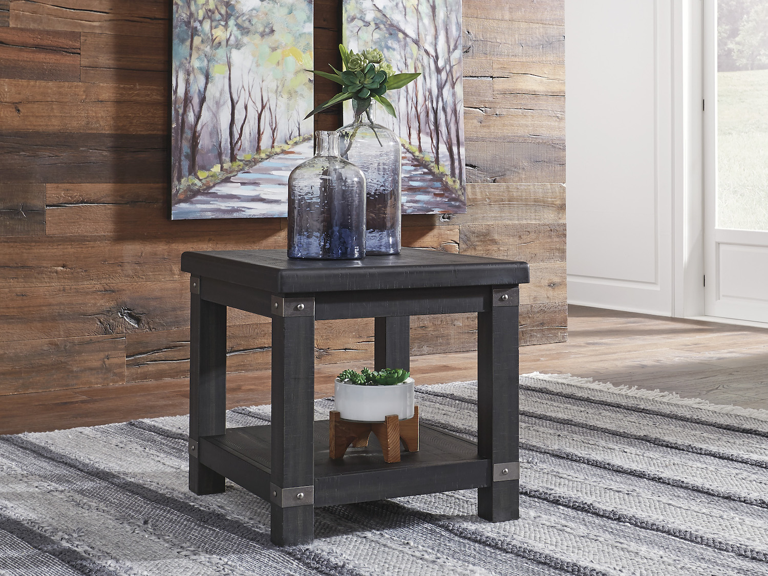 Delmar End Table, T902, Accent/End Tables, Delmar End Table from Ashley by Midha Furniture serving Brampton, Mississauga, Etobicoke, Toronto, Scraborough, Caledon, Cambridge, Oakville, Markham, Ajax, Pickering, Oshawa, Richmondhill, Kitchener, Hamilton, Cambridge, Waterloo and GTA area