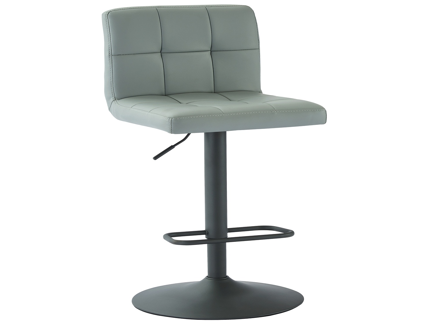 FUSION-GAS LIFT STOOL-GREY FAUX LEATHER, 841173032630, Bar Stools, FUSION-GAS LIFT STOOL-GREY FAUX LEATHER from Dropship by Midha Furniture serving Brampton, Mississauga, Etobicoke, Toronto, Scraborough, Caledon, Cambridge, Oakville, Markham, Ajax, Pickering, Oshawa, Richmondhill, Kitchener, Hamilton, Cambridge, Waterloo and GTA area