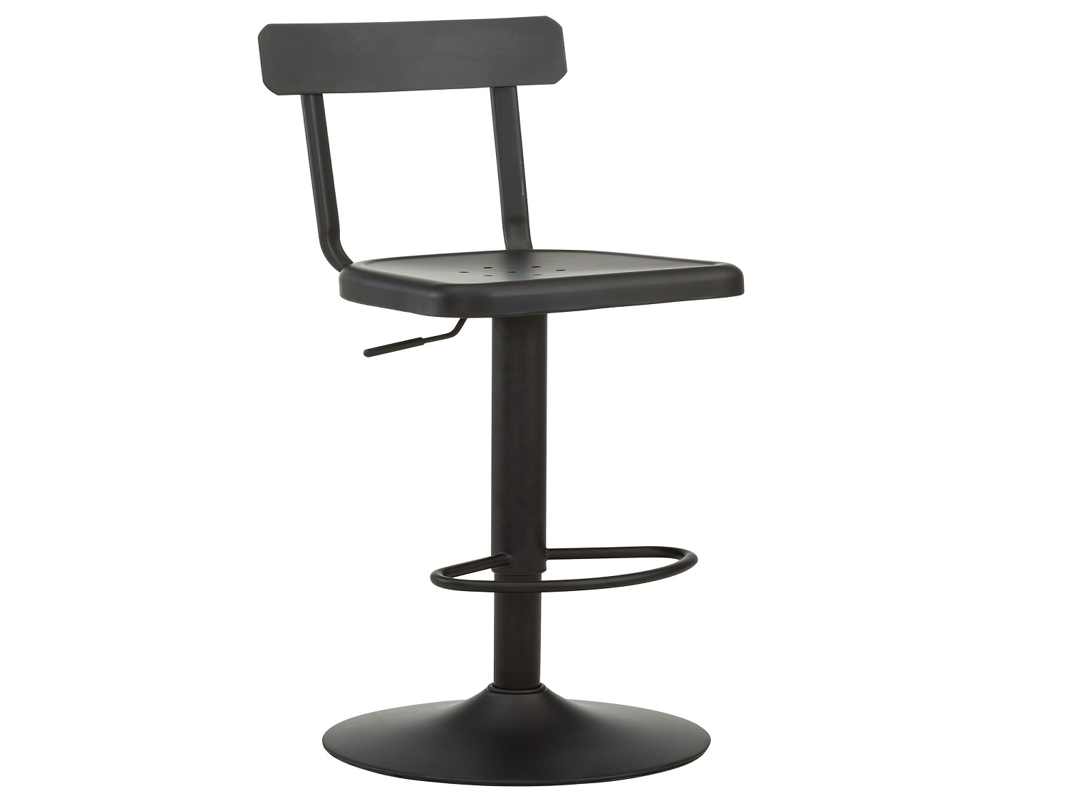 HAINES-ADJUSTABLE STOOL-BLACK, 841173021108, Bar Stools by Midha Furniture to Brampton, Mississauga, Etobicoke, Toronto, Scraborough, Caledon, Oakville, Markham, Ajax, Pickering, Oshawa, Richmondhill, Kitchener, Hamilton and GTA area