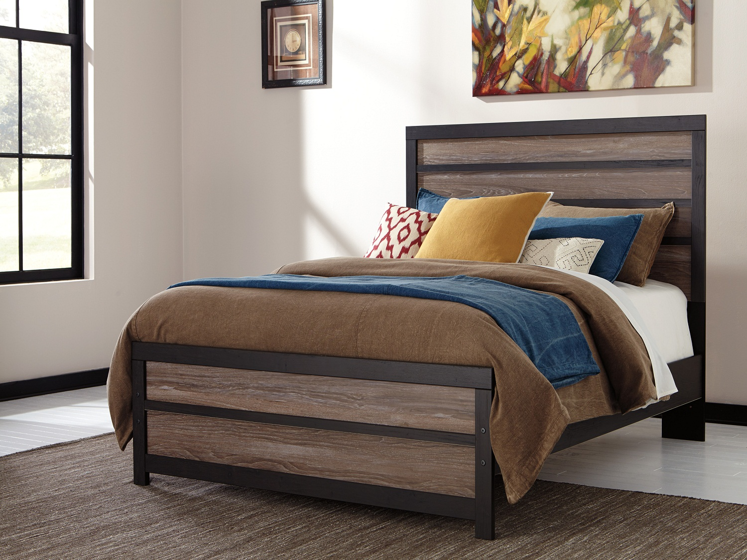 Harlinton bed, B325, Beds, Harlinton bed from Ashley by Midha Furniture serving Brampton, Mississauga, Etobicoke, Toronto, Scraborough, Caledon, Cambridge, Oakville, Markham, Ajax, Pickering, Oshawa, Richmondhill, Kitchener, Hamilton, Cambridge, Waterloo and GTA area