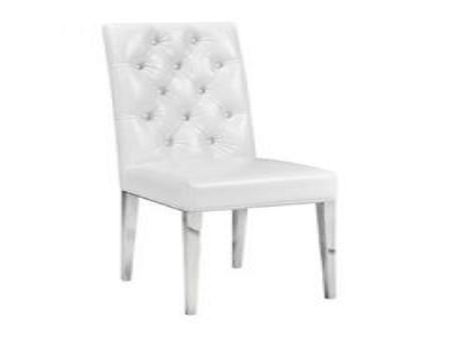 Magnificent Leslie White Leatherette Dining Chair Gy 282 Dining Chairs Uwap Interior Chair Design Uwaporg
