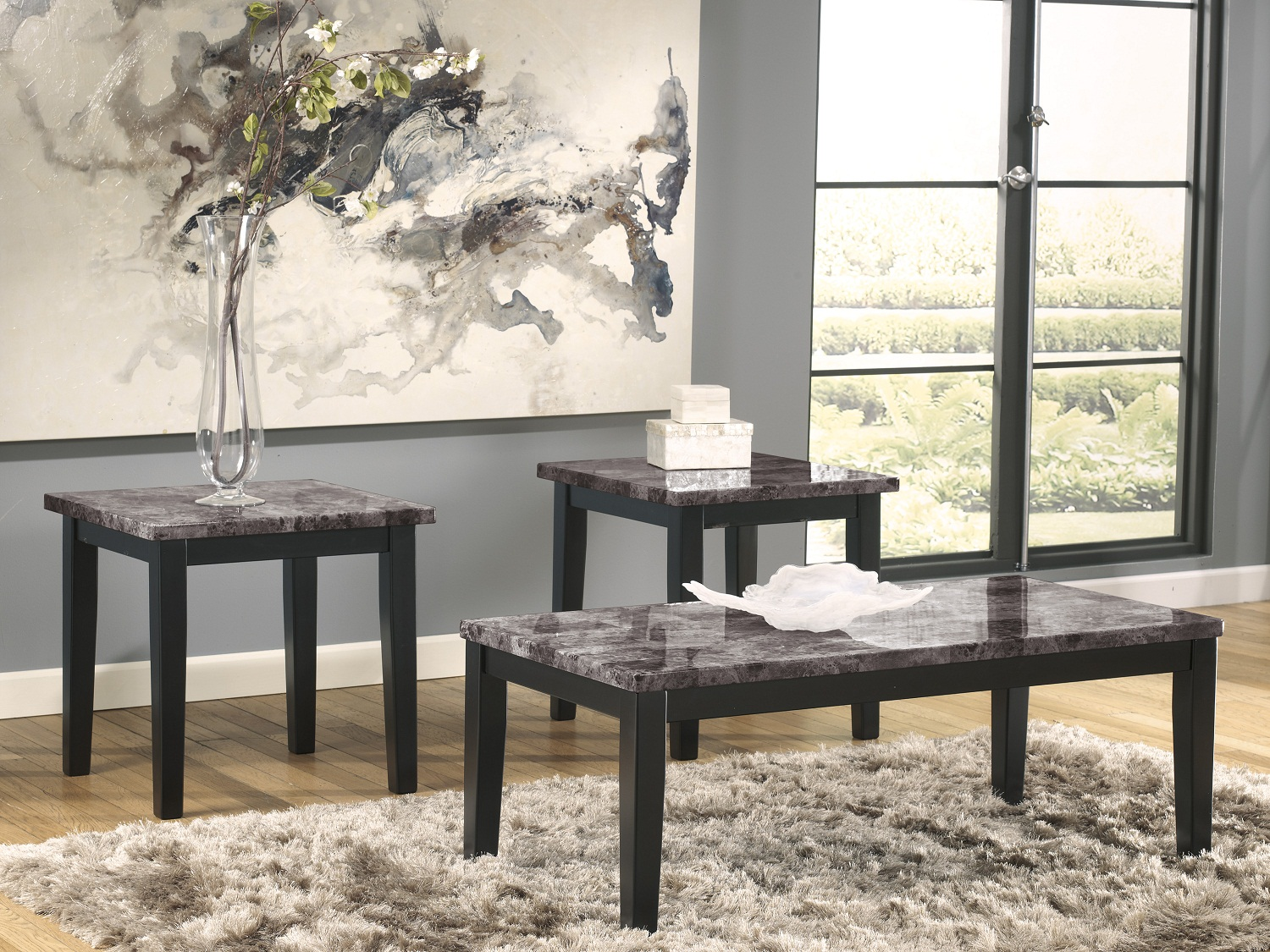 Maysville 3PC Coffee Table Set, T204-13, Coffee Table by Midha Furniture to Brampton, Mississauga, Etobicoke, Toronto, Scraborough, Caledon, Oakville, Markham, Ajax, Pickering, Oshawa, Richmondhill, Kitchener, Hamilton and GTA area