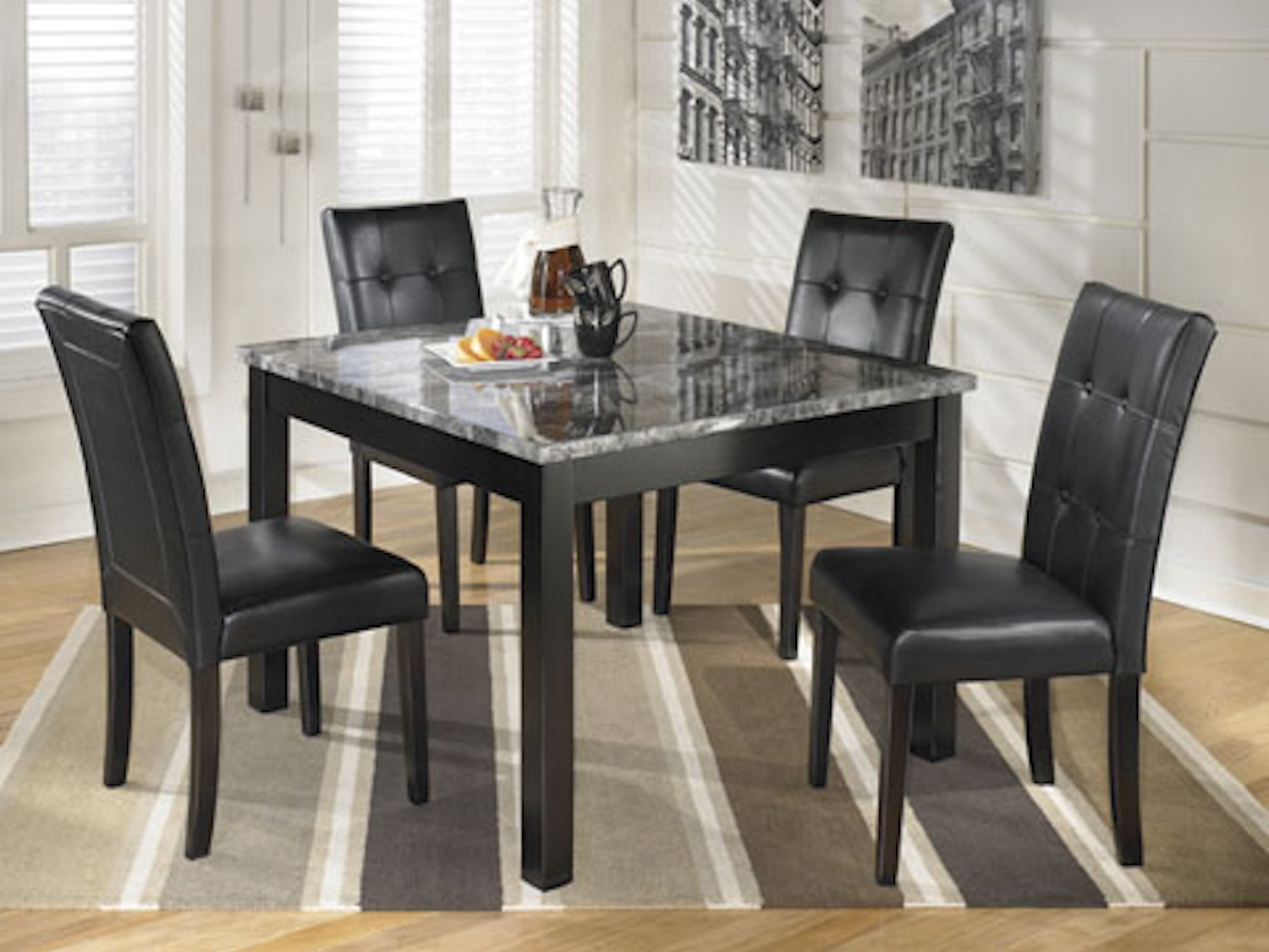 Maysville 5 PC Square Counter TBL Set, D154-223, Dining Room Sets, Maysville 5 PC Square Counter TBL Set from Ashley by Midha Furniture serving Brampton, Mississauga, Etobicoke, Toronto, Scraborough, Caledon, Cambridge, Oakville, Markham, Ajax, Pickering, Oshawa, Richmondhill, Kitchener, Hamilton, Cambridge, Waterloo and GTA area