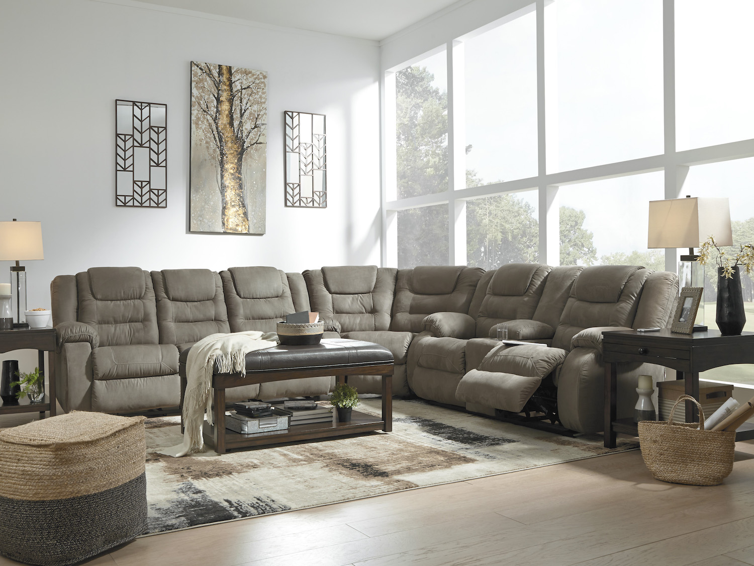 McCade Recliner Sectional, 10104, Sectionals, McCade Recliner Sectional from Ashley by Midha Furniture serving Brampton, Mississauga, Etobicoke, Toronto, Scraborough, Caledon, Cambridge, Oakville, Markham, Ajax, Pickering, Oshawa, Richmondhill, Kitchener, Hamilton, Cambridge, Waterloo and GTA area