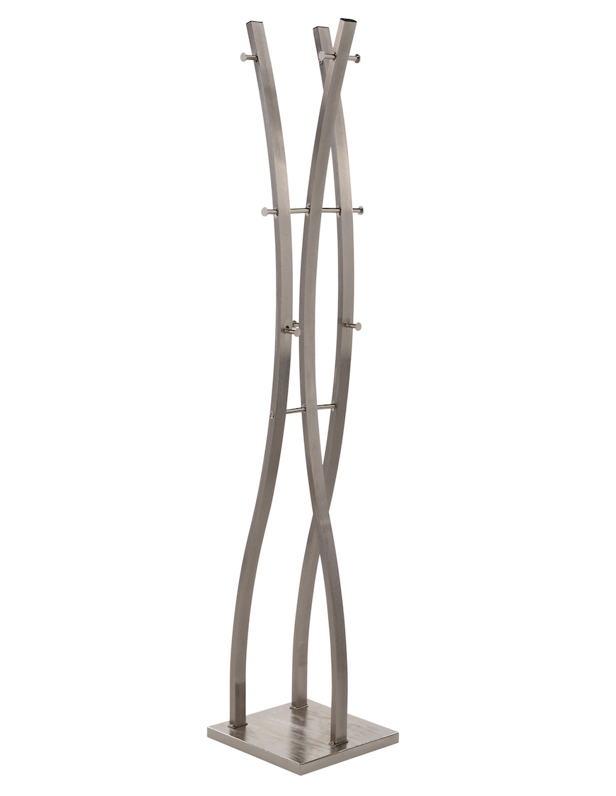 NEIL-COAT RACK-BRUSHED NICKEL, 841173029289, Coat Rack, NEIL-COAT RACK-BRUSHED NICKEL from Dropship by Midha Furniture serving Brampton, Mississauga, Etobicoke, Toronto, Scraborough, Caledon, Cambridge, Oakville, Markham, Ajax, Pickering, Oshawa, Richmondhill, Kitchener, Hamilton, Cambridge, Waterloo and GTA area