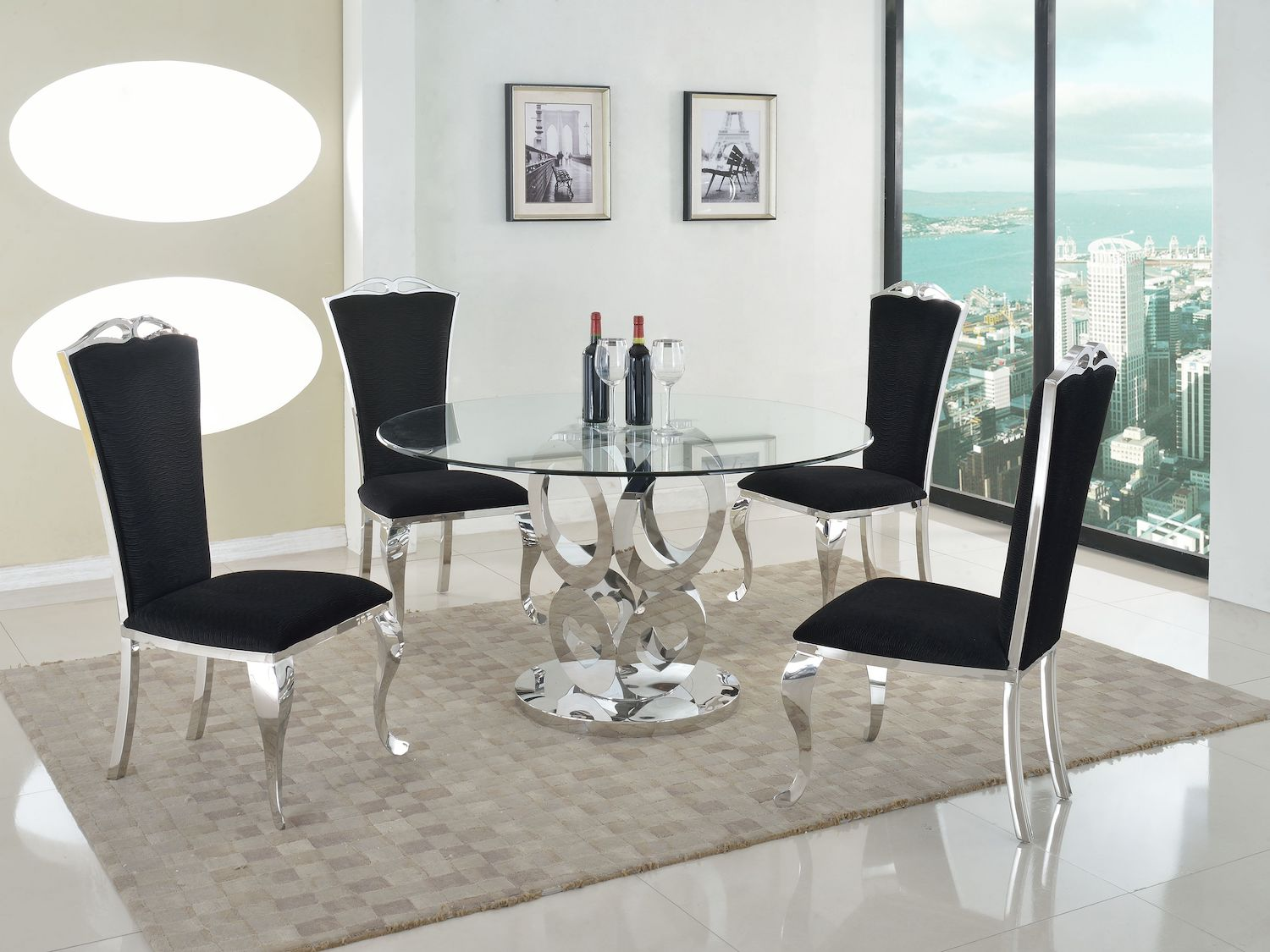 Raegan Dining Set W/Jamie Chairs, CHIN-1, Premium Dining Room Collection by Midha Furniture to Brampton, Mississauga, Etobicoke, Toronto, Scraborough, Caledon, Oakville, Markham, Ajax, Pickering, Oshawa, Richmondhill, Kitchener, Hamilton and GTA area