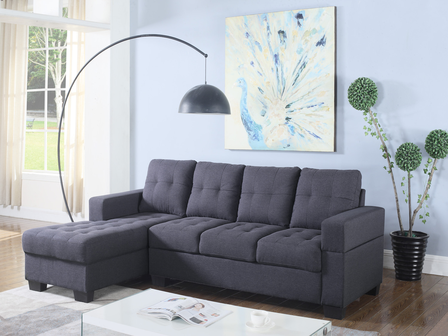 Sectional, 6212, Sectionals by Midha Furniture to Brampton, Mississauga, Etobicoke, Toronto, Scraborough, Caledon, Oakville, Markham, Ajax, Pickering, Oshawa, Richmondhill, Kitchener, Hamilton and GTA area