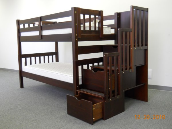 Serral Bunk Bed Espresso, Serral bunk bed, Bunk bed by Midha Furniture to Brampton, Mississauga, Etobicoke, Toronto, Scraborough, Caledon, Oakville, Markham, Ajax, Pickering, Oshawa, Richmondhill, Kitchener, Hamilton and GTA area