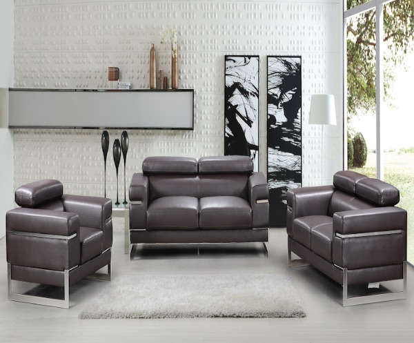 Sicily - Chocolate Color, K181, Sofa Sets by Midha Furniture to Brampton, Mississauga, Etobicoke, Toronto, Scraborough, Caledon, Oakville, Markham, Ajax, Pickering, Oshawa, Richmondhill, Kitchener, Hamilton and GTA area