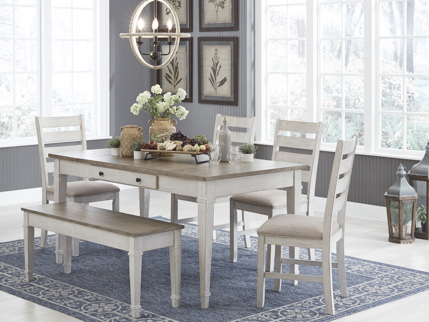 Skempton 5 PC Dining Set, D394, Dining Room Sets, Skempton 5 PC Dining Set from Ashley by Midha Furniture serving Brampton, Mississauga, Etobicoke, Toronto, Scraborough, Caledon, Cambridge, Oakville, Markham, Ajax, Pickering, Oshawa, Richmondhill, Kitchener, Hamilton, Cambridge, Waterloo and GTA area