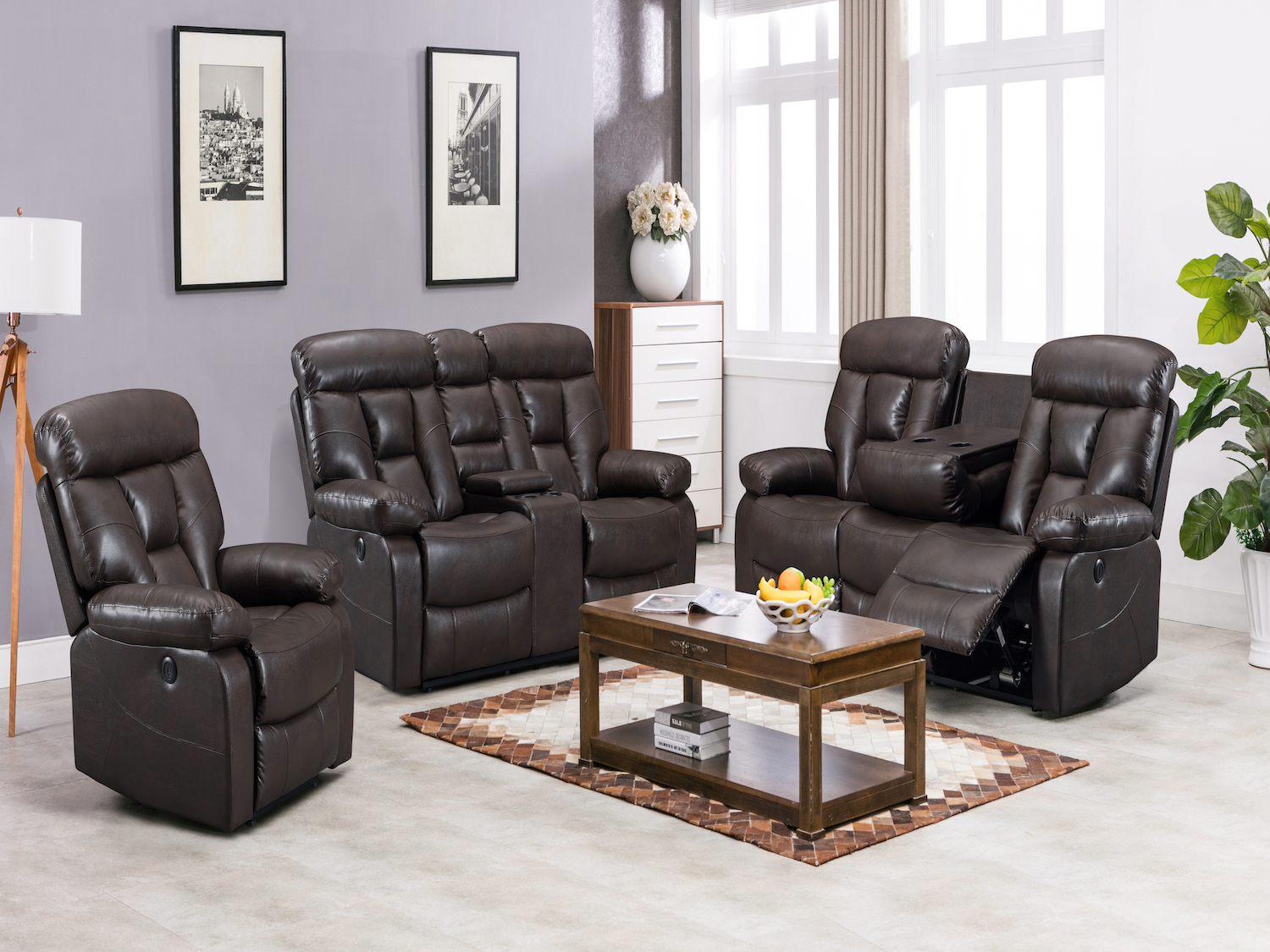 2 PC Power Recliner Sofa Set, 9912, Recliner Sofa Sets by Midha Furniture to Brampton, Mississauga, Etobicoke, Toronto, Scraborough, Caledon, Oakville, Markham, Ajax, Pickering, Oshawa, Richmondhill, Kitchener, Hamilton, Cambridge, Waterloo and GTA area