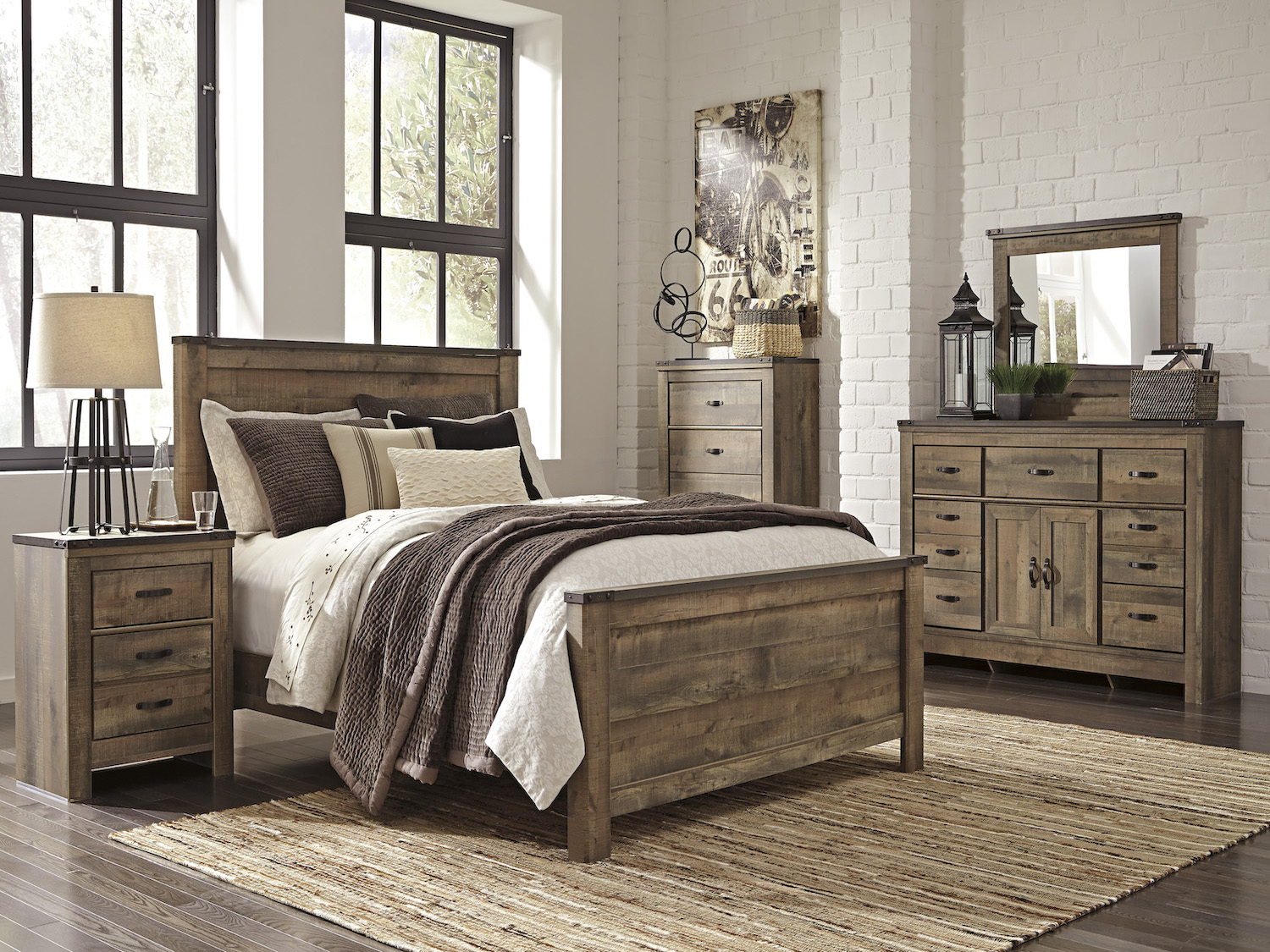 Trinell 6 PC bedroom set, B446, Bedroom Sets, Trinell 6 PC bedroom set from Ashley by Midha Furniture serving Brampton, Mississauga, Etobicoke, Toronto, Scraborough, Caledon, Cambridge, Oakville, Markham, Ajax, Pickering, Oshawa, Richmondhill, Kitchener, Hamilton, Cambridge, Waterloo and GTA area