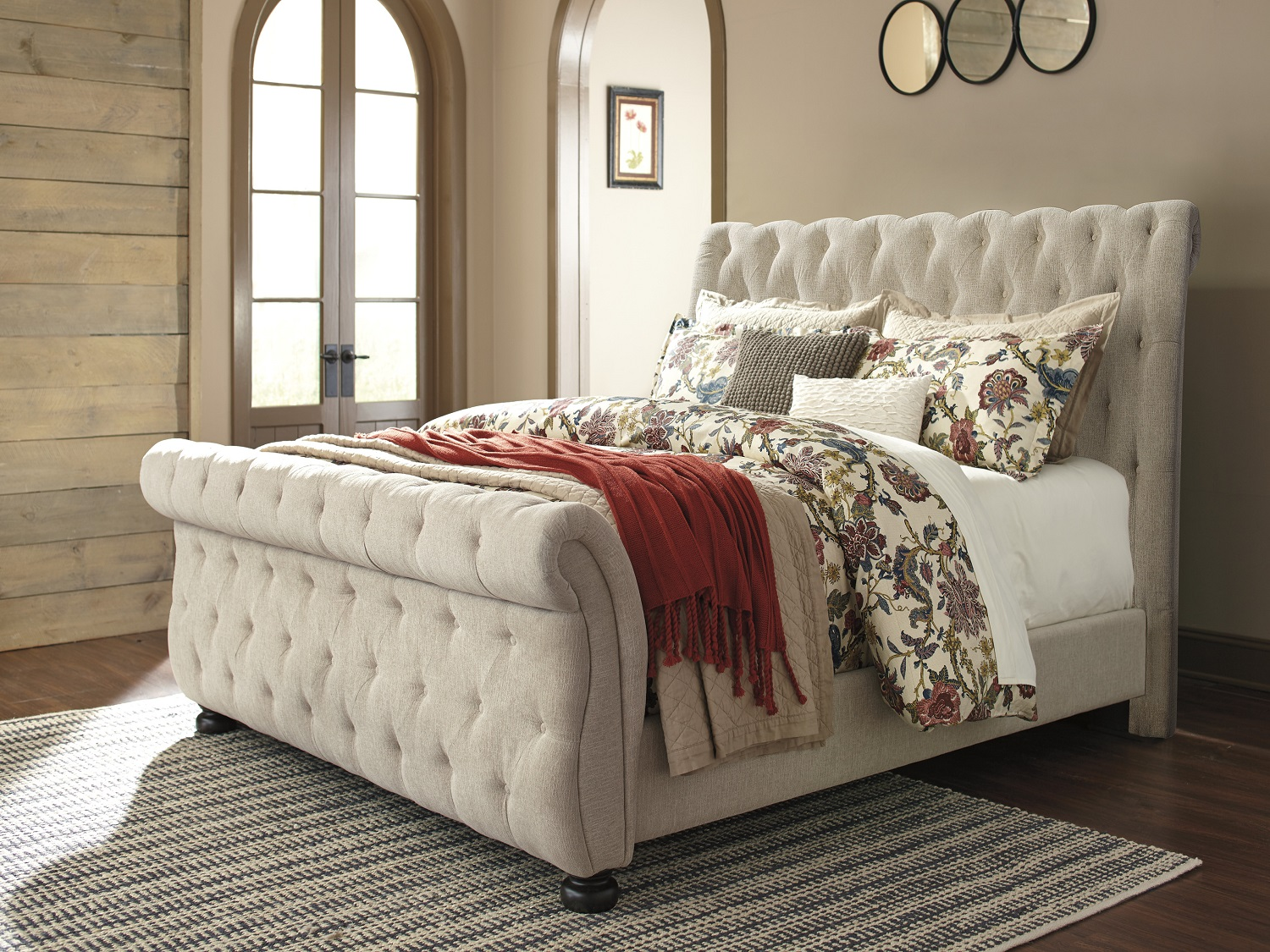 Ashley Willenburg Casual Fabric Upholstery Bed, B643, Beds, Ashley Willenburg Casual Fabric Upholstery Bed from Ashley
