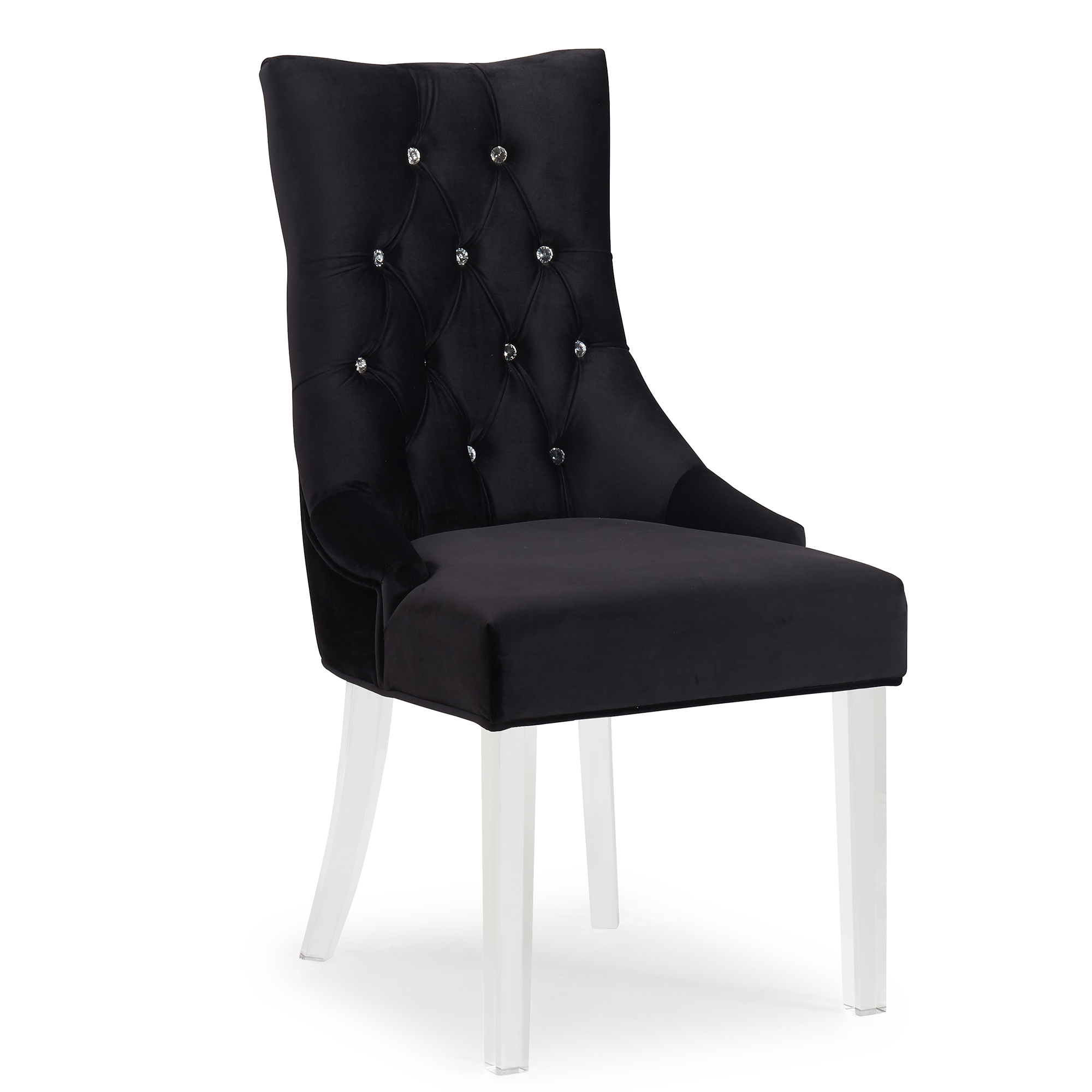CAVALLI-ACCENT CHAIR-BLACK, 841173025861, Accent Chairs by Midha Furniture to Brampton, Mississauga, Etobicoke, Toronto, Scraborough, Caledon, Oakville, Markham, Ajax, Pickering, Oshawa, Richmondhill, Kitchener, Hamilton and GTA area