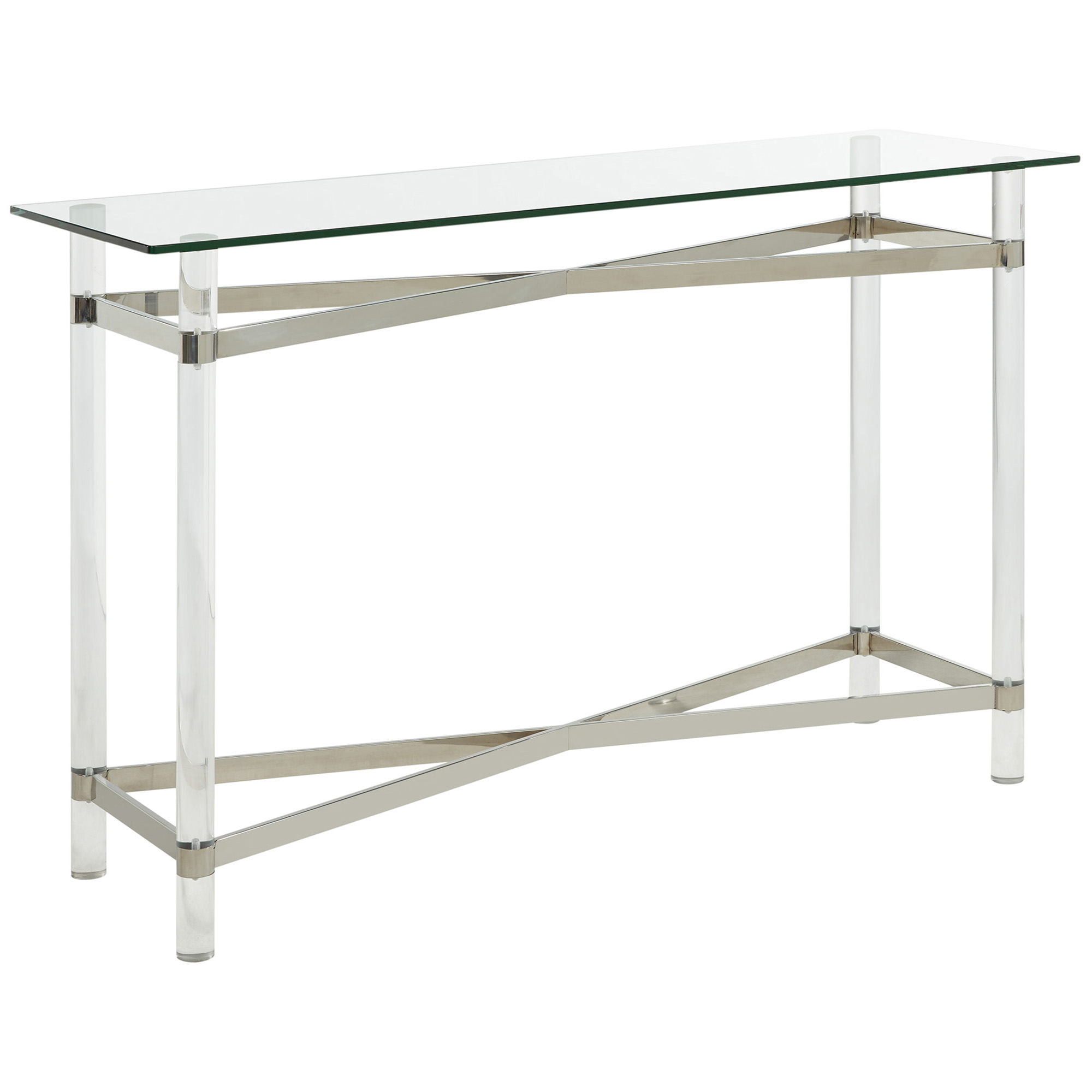 MORELIA-CONSOLE TABLE-CHROME, 841173026585, Console Table by Midha Furniture to Brampton, Mississauga, Etobicoke, Toronto, Scraborough, Caledon, Oakville, Markham, Ajax, Pickering, Oshawa, Richmondhill, Kitchener, Hamilton and GTA area
