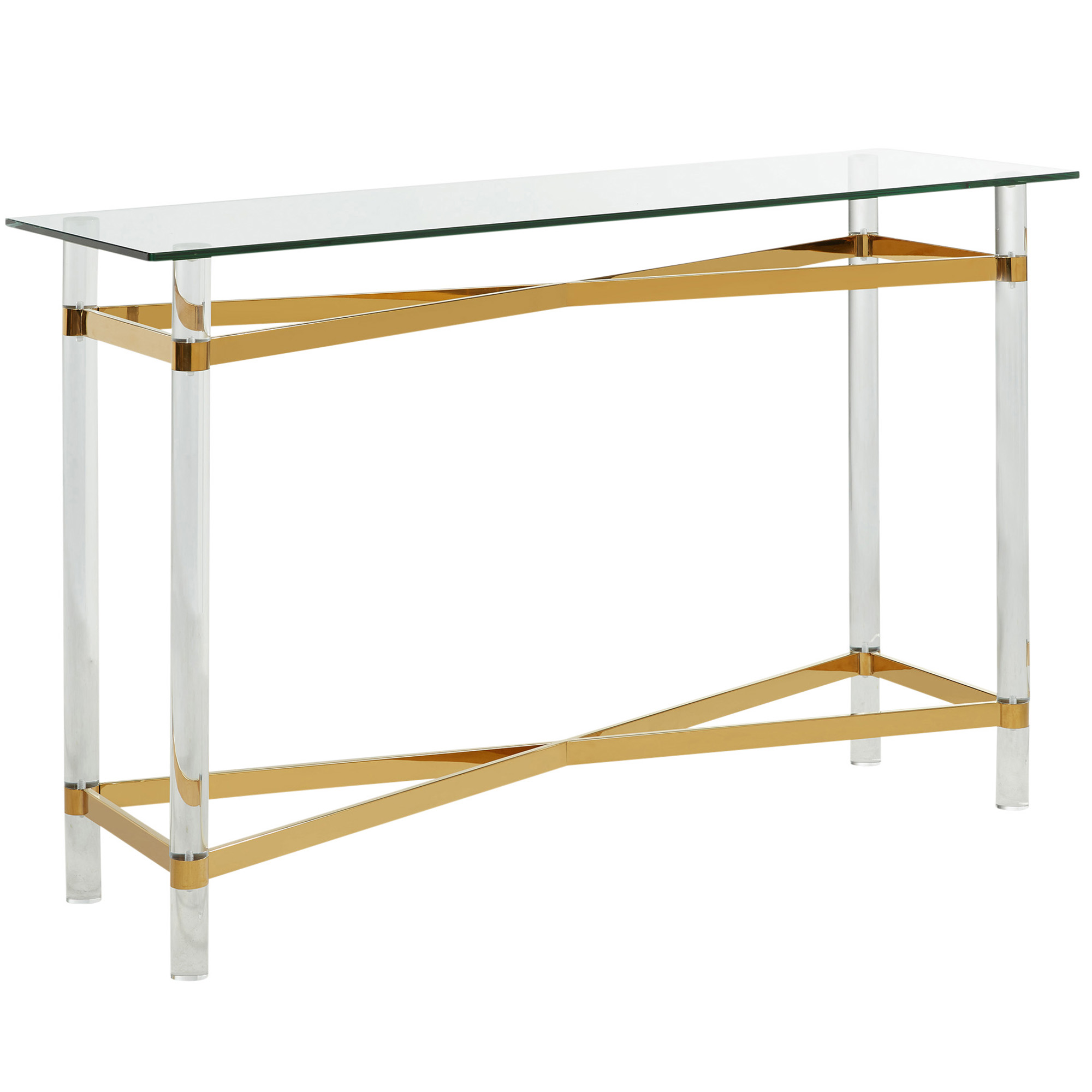 MORELIA-CONSOLE TABLE-GOLD, 841173026578, Console Table by Midha Furniture to Brampton, Mississauga, Etobicoke, Toronto, Scraborough, Caledon, Oakville, Markham, Ajax, Pickering, Oshawa, Richmondhill, Kitchener, Hamilton and GTA area