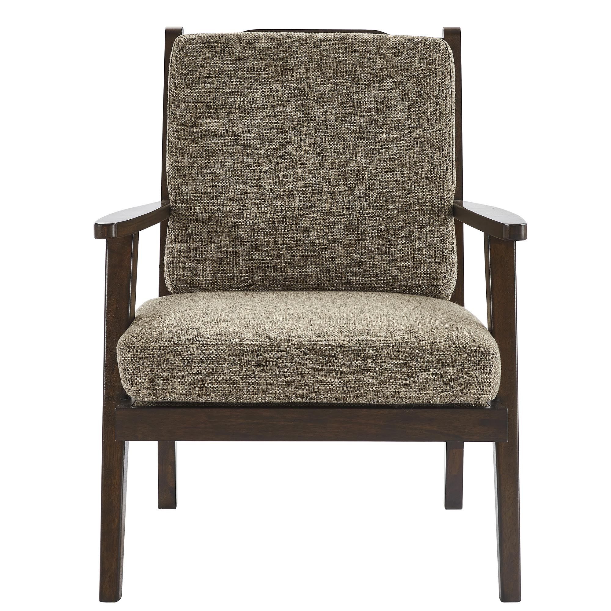 RIGA-ACCENT CHAIR-BROWN, 841173032258, Accent Chairs by Midha Furniture to Brampton, Mississauga, Etobicoke, Toronto, Scraborough, Caledon, Oakville, Markham, Ajax, Pickering, Oshawa, Richmondhill, Kitchener, Hamilton and GTA area