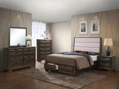 Sloan 6 PC Queen Bedroom Set by Midha's Furniture Serving Brampton, Mississauga, Etobicoke, Toronto, Scraborough, Caledon, Cambridge, Oakville, Markham, Ajax, Pickering, Oshawa, Richmondhill, Kitchener, Hamilton and GTA area