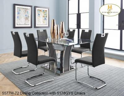 Homelegance design Glass Top 5577 DINING SET by Midha's Furniture Serving Brampton, Mississauga, Etobicoke, Toronto, Scraborough, Caledon, Cambridge, Oakville, Markham, Ajax, Pickering, Oshawa, Richmondhill, Kitchener, Hamilton and GTA area
