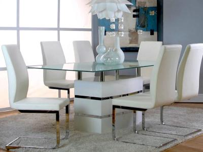 ALTAIR TBL/WHT HEKA CHRS 5PC SET by Midha's Furniture Serving Brampton, Mississauga, Etobicoke, Toronto, Scraborough, Caledon, Cambridge, Oakville, Markham, Ajax, Pickering, Oshawa, Richmondhill, Kitchener, Hamilton and GTA area