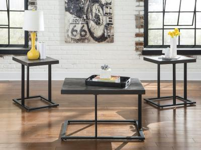 Ashley Airdon 3 PC Modern  Coffee Table Set by Midha's Furniture Serving Brampton, Mississauga, Etobicoke, Toronto, Scraborough, Caledon, Cambridge, Oakville, Markham, Ajax, Pickering, Oshawa, Richmondhill, Kitchener, Hamilton and GTA area
