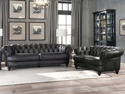 Modern Nottingham Sofa In Genuine Leather With Down Feather Seating by Amax Leather by Midha's Furniture Serving Brampton, Mississauga, Etobicoke, Toronto, Scraborough, Caledon, Cambridge, Oakville, Markham, Ajax, Pickering, Oshawa, Richmondhill, Kitchener, Hamilton and GTA area