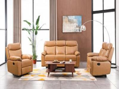 Baril 3 PC Recliner Sofa Set- Taupe