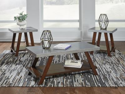 Ashley Bellenteen 3PC Coffee Table Set in Tulip design by Midha's Furniture Serving Brampton, Mississauga, Etobicoke, Toronto, Scraborough, Caledon, Cambridge, Oakville, Markham, Ajax, Pickering, Oshawa, Richmondhill, Kitchener, Hamilton and GTA area
