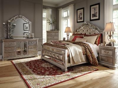 Birlanny 6 PC Queen Bedroom Set by Midha's Furniture Serving Brampton, Mississauga, Etobicoke, Toronto, Scraborough, Caledon, Cambridge, Oakville, Markham, Ajax, Pickering, Oshawa, Richmondhill, Kitchener, Hamilton and GTA area