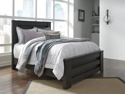 Ashley Brinxton Double Bed in Dark Charcoal Finish by Midha's Furniture Serving Brampton, Mississauga, Etobicoke, Toronto, Scraborough, Caledon, Cambridge, Oakville, Markham, Ajax, Pickering, Oshawa, Richmondhill, Kitchener, Hamilton and GTA area