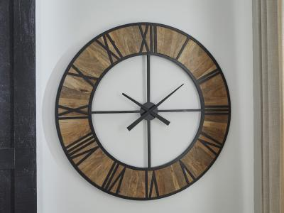 Byram Wall Clock by Midha's Furniture Serving Brampton, Mississauga, Etobicoke, Toronto, Scraborough, Caledon, Cambridge, Oakville, Markham, Ajax, Pickering, Oshawa, Richmondhill, Kitchener, Hamilton and GTA area