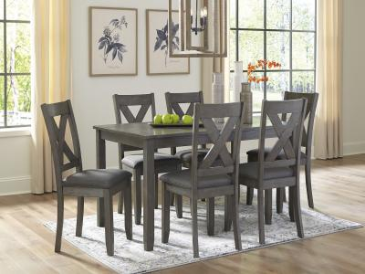 Caitbrook Dining Set (7 PC) by Midha's Furniture Serving Brampton, Mississauga, Etobicoke, Toronto, Scraborough, Caledon, Cambridge, Oakville, Markham, Ajax, Pickering, Oshawa, Richmondhill, Kitchener, Hamilton and GTA area