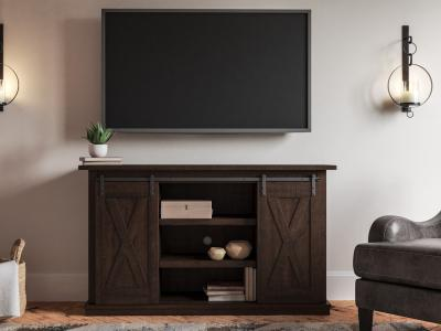 Camiburg Medium TV Stand by Midha's Furniture Serving Brampton, Mississauga, Etobicoke, Toronto, Scraborough, Caledon, Cambridge, Oakville, Markham, Ajax, Pickering, Oshawa, Richmondhill, Kitchener, Hamilton and GTA area