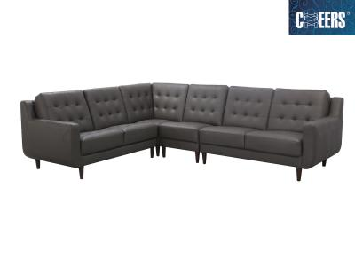 Cheers Genuine Leather L-Shaped Sectional by Midha's Furniture Serving Brampton, Mississauga, Etobicoke, Toronto, Scraborough, Caledon, Cambridge, Oakville, Markham, Ajax, Pickering, Oshawa, Richmondhill, Kitchener, Hamilton and GTA area