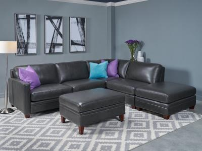 Amax Leather Como Sectional Sofa in Genuine Leather by Midha's Furniture Serving Brampton, Mississauga, Etobicoke, Toronto, Scraborough, Caledon, Cambridge, Oakville, Markham, Ajax, Pickering, Oshawa, Richmondhill, Kitchener, Hamilton and GTA area