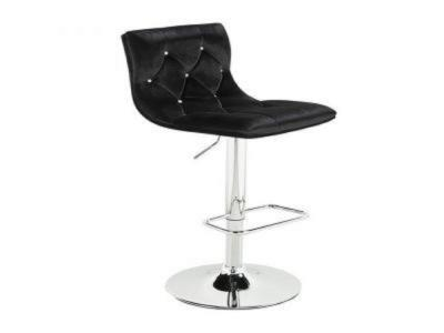 Crystal Black Velvet Adjustable Stool