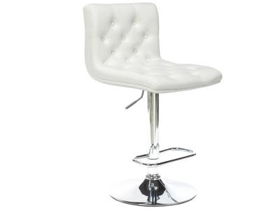 Daniel White Leatherette Adjustable Stool by Midha's Furniture Serving Brampton, Mississauga, Etobicoke, Toronto, Scraborough, Caledon, Cambridge, Oakville, Markham, Ajax, Pickering, Oshawa, Richmondhill, Kitchener, Hamilton and GTA area