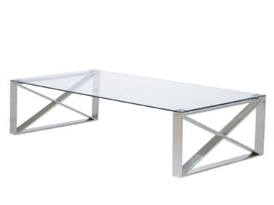 David X Leg Coffee Table: Condo Size