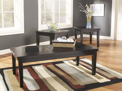 Ashley Denja 3PC Coffee Table Set with Tempered Glass Top by Midha's Furniture Serving Brampton, Mississauga, Etobicoke, Toronto, Scraborough, Caledon, Cambridge, Oakville, Markham, Ajax, Pickering, Oshawa, Richmondhill, Kitchener, Hamilton and GTA area