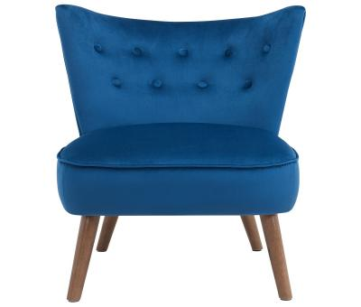 ELLE-ACCENT CHAIR-BLUE by Midha's Furniture Serving Brampton, Mississauga, Etobicoke, Toronto, Scraborough, Caledon, Cambridge, Oakville, Markham, Ajax, Pickering, Oshawa, Richmondhill, Kitchener, Hamilton and GTA area