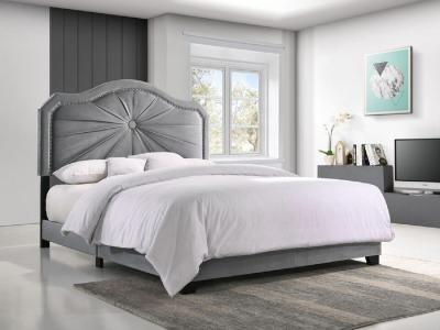 K-Living Embla Queen Bed with Stylish Headboard Element by Midha's Furniture Serving Brampton, Mississauga, Etobicoke, Toronto, Scraborough, Caledon, Cambridge, Oakville, Markham, Ajax, Pickering, Oshawa, Richmondhill, Kitchener, Hamilton and GTA area