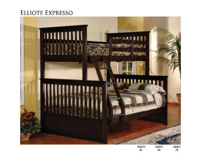 Elliote Bunk Bed Espresso