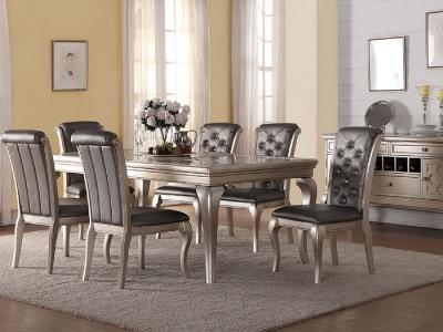 Elsa 7 PC Dining Set by Midha's Furniture Serving Brampton, Mississauga, Etobicoke, Toronto, Scraborough, Caledon, Cambridge, Oakville, Markham, Ajax, Pickering, Oshawa, Richmondhill, Kitchener, Hamilton and GTA area