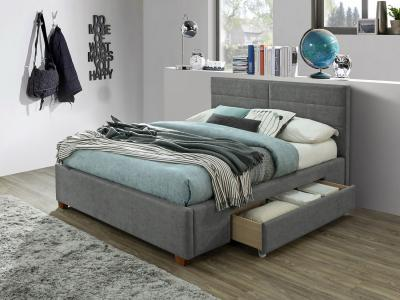 Emilio Modern Queen Platform Bed with Storage by Midha's Furniture Serving Brampton, Mississauga, Etobicoke, Toronto, Scraborough, Caledon, Cambridge, Oakville, Markham, Ajax, Pickering, Oshawa, Richmondhill, Kitchener, Hamilton and GTA area